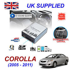 For Toyota COROLLA SD MP3 USB CD AUX Input Audio Adapter CD Changer Module 6+6pn