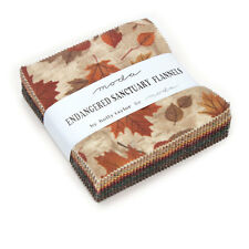 """CHARM PACK~ENDANGERED SANCTUARY FLANNELS~42-5"""" SQUARES~MODA FABRIC~HOLLY TAYLOR"""
