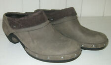 MERRELL Women's Drizzle Taupe Studded Leather Slip On Clog Shoe Sz 8