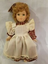 """All PORCELAIN DOLL GIRL in Country dress 7"""" Painted eyes handcrafted"""