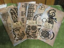 Tim Holtz Idea-ology Mask Masks 6 Large 3 Minis All New in Package