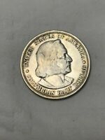 1893 Columbian Exposition Commemorative Half Dollar Silver Coin