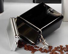 KAFFEEDOSE Vorratsdose 9x5x15cm schwarz Dose Box Kaffee Ordnung Küchenhelfer NEU