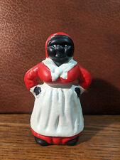 Vintage Cast Iron Black Americana Lady Aunt Jemima Type Piggy Bank