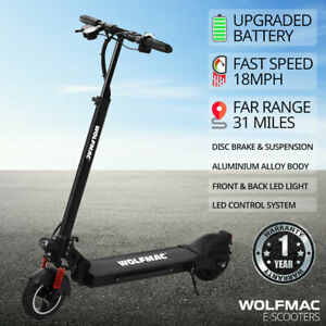 WOLFMAC™ H5 Electric E-Scooter, 2021 Model Scooter, FAST 18mph, Children & Adult