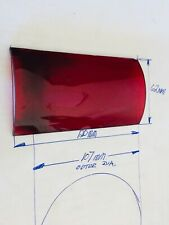 More details for red curved glass for british railway 4 aspect oil hand lamp gc