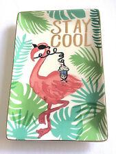 Trinket Tray Flamingo Stay Cool The Flamingo Has a Milkshake from Rosanna