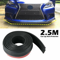 "Rubber Strip Splitter Lip Skirt Protector For Car Front Bumper 100"" Universal"