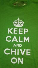VINTAGE OFFICIAL KEEP CALM AND CHIVE ON T SHIRT..SIZE LARGE