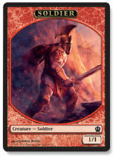 4X 1/1 Red Solider TOKEN (7/11) NM Theros MTG Magic Card Akroan Crusader