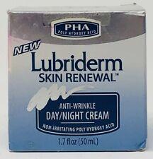 (1) Lubriderm Skin Renewal Anti-Wrinkle Day/Night Cream w Pha 1.7 fl oz