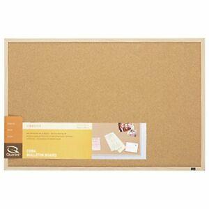 """Cork Board Bulletin Board 23"""" x 35"""" Corkboard Oak Finish Frame Natural cork"""