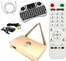 2017 MODEL 5 Golden Arabic IPTV Stream 1080p HDTV WiFi + Keyboard