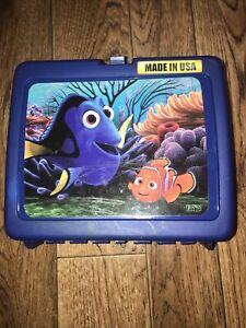 Disney Finding Nemo Dori Thermos Hard Lunch Box School Travel Blue Made In USA