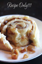 "☆""RECIPE""☆Apple Pie Cinnamon Rolls☆Gooey Center~Cream Cheese Frosting~Flavorful☆"