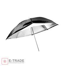 "Photo Umbrella / Universal 32"" - 83cm / white / SILVER + BLACK SHELL"