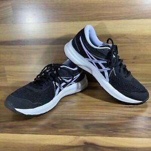 ASICS GEL-Contend 7 1012A910 Running Shoe - Women's Size 8 Black/Lilac