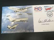 More details for sir denis thatcher signed fdc raf 80th anniversary number 168 of 200