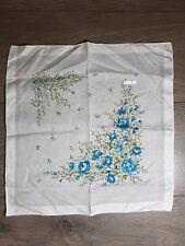 Vintage Ladies Maco Gekämmt Handkerchiefs floral white blue