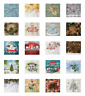 Ambesonne Christmas Decorative Satin Napkins Set of 4 Party Dinner Fabric