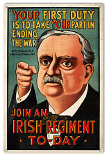 Irish Regiment End The War Military Sign 12×18