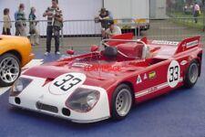 PHOTO  SILVERSTONE 07 JON MINSHAW'S GORGEOUS ALFA ROMEO 33TT3 SPORTS CAR ON DISP