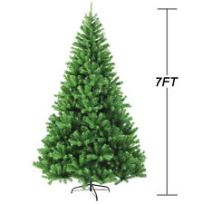 7FT Fireproofing Premium Hinged Artificial Christmas Tree W/865 Tips Full Tree