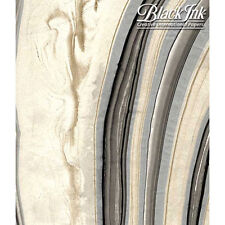 Paper Thai Marbled Blk/Gold/Silver 24X36