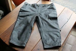 Vintage Kniebund Glattlederhose, eine dunkelbraune H 56 / 110 = hochgewachsen !