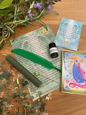 Spell Kit for Money. Hand made wiccan witchcraft Ritual Kit for Wealth