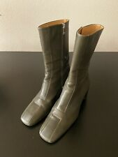 vtg BALLY Cambray ANKLE BOOTS square toe MID CALF sz 7.5 37.5