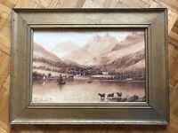 Albert Milton Drinkwater (1860-1917) sepia wash landscape 19thC - Fine Art