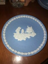 """Wedgwood Jasperware 8"""" Collector's Plate Man on the Moon Apollo 11 July 20, 1969"""