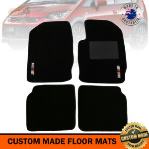 Mitsubishi Ralliart Colt RG Custom Made Floor Mats FRONT+REAR 4 piece Set BLACK