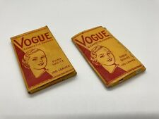 Vintage Vogue Cigarette Tobacco Rolling Papers Original Packaging Collectable