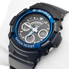 Casio G-Shock Mens Wrist Watch AW591-2A  AW-591-2A Digital-Analogue Black/Blue