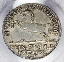 1758-IBH Germany Brunswick-Wolfenbuttel 4 MG Silver Coin - PCGS AU 58 - KM# 894