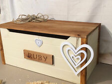 TOY BOX PERSONALISED STORAGE CHEST SEAT BENCH HAND MADE SOLID WOOD
