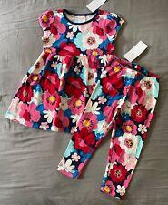 Toddler Girl 18-24 Month Gymboree Multicolored Floral Print Dress & Leggings Set