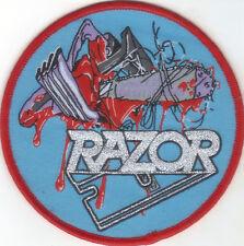 RAZOR-VIOLENT RESTITUTION-ROUND WOVEN PATCH-SUPER RARE-LIMITED
