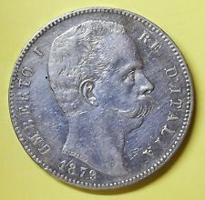 UMBERTO I REGNO D' ITALIA 5 lire 1879