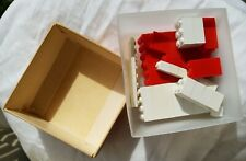 Vintage Lego Extra Parts Bricks w Box 1966 Rare Red and White Samsonite 051~ 052