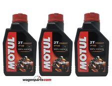 Aceite Moto 2T Mezcla PREMIX 100% sintetico Ester MOTUL 710 2T, (3 x 1 litro)