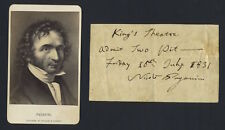 Nicolò PAGANINI (Violinist):Signed Note, Admitting Two to an 1831 London Concert
