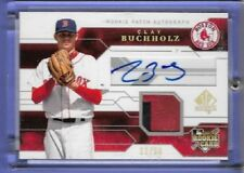 2008 UPPER DECK SP AUTHENTIC CLAY BUCHHOLZ AUTO/MAT  22/50  ROOKIE