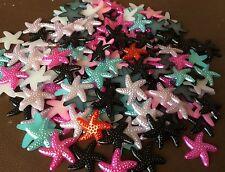 30 starfish shape pearl plastic flat back, cabochon Jewellery, Crafts 19mm