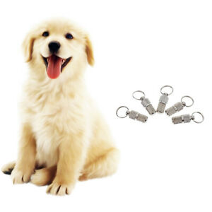 5Pcs Pet ID Tags DIY Pet Name Tags Anti-Lost for Name Address Telephone