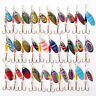 30X Metal Mixed Spinner Fishing Lure Pike-Salmon Baits Bass Trout Fish Hooks