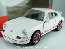 PORSCHE CARRERA RS 1973 MODEL CAR 1/36TH SCALE WHITE/RED COLOUR EXAMPLE T312Z(=)