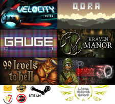 Velocity Ultra+Qora+GAUGE+Kraven Manor+99 Levels To Hell+Deadly 30 PC STEAM KEY